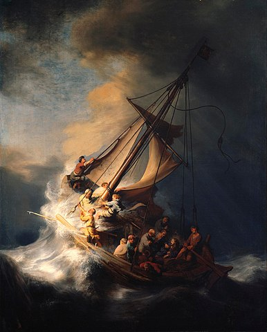 Rembrandt La tempête apaisée